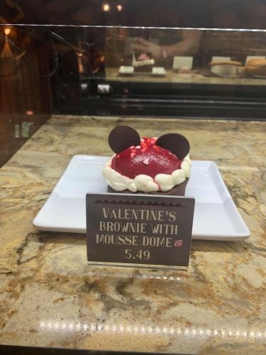 Valentine's Brownie with Mousse Dome available for a Limited Time in Animal Kingdom! 2