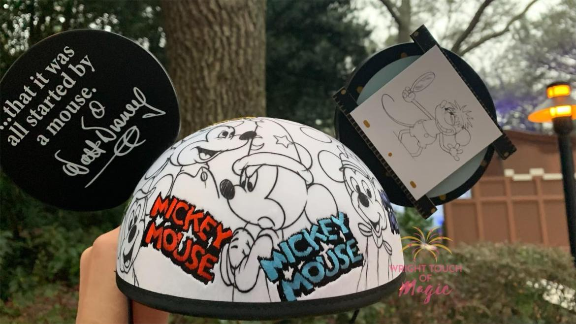 New Disney Designer Sketch Mickey Mouse Ears By Alex Maher