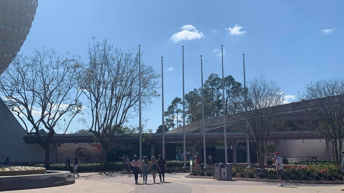 New Flag Polls installed at Epcot's Entrance