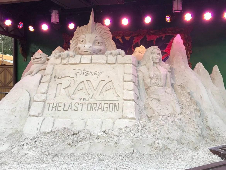 Raya and the Last Dragon Sand Art created in Disney's Animal Kingdom