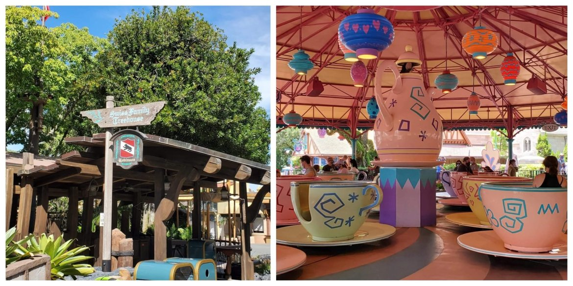 Swiss Family Treehouse & Mad Tea Party Closing for Refurbishments