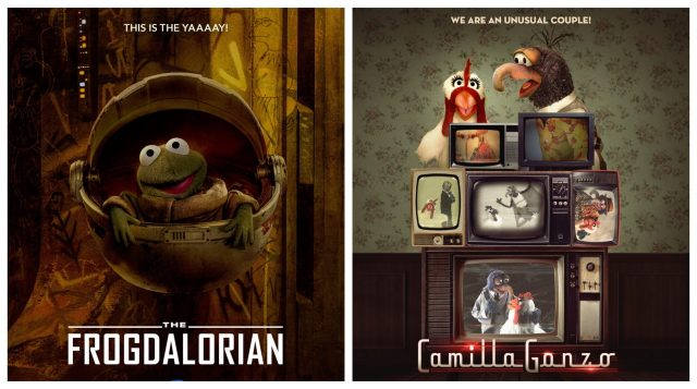 The Muppets Parody of the Mandalorian and WandaVision Posters