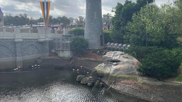 Cinderella Castle Moat Being Drained in Preparation of Walt Disney World's 50th 1