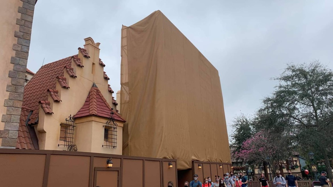 Scrims Added to Peter Pan's Flight in the Magic Kingdom for exterior refurbishment