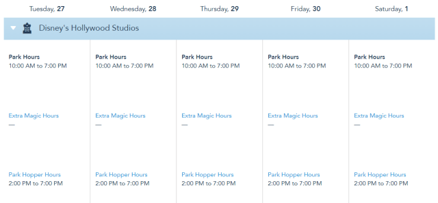 Disney World releases operating hours through May 1st, 2021 4