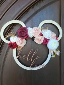 Mickey Rose Wreath