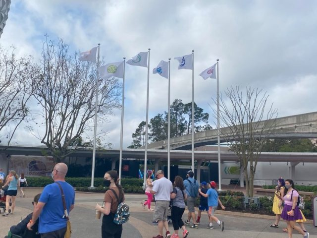 epcot flagpoles new flags