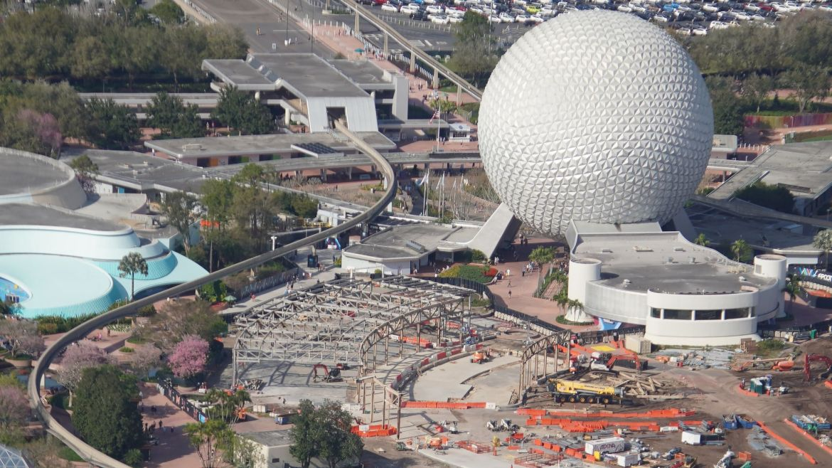 Aerial look at the demolition of Innoventions West