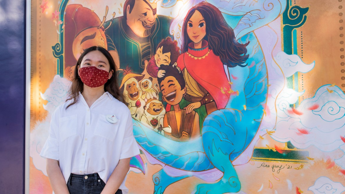 Artwork Inspired by Disney's 'Raya and the Last Dragon' now in display in Downtown Disney