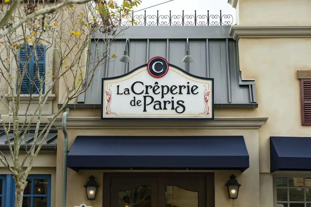 La Crêperie de Paris in the France Pavilion opening in October