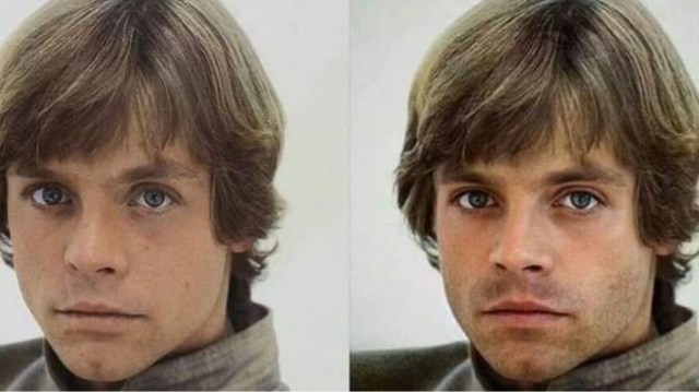 Sebastian Stan Luke Skywalker