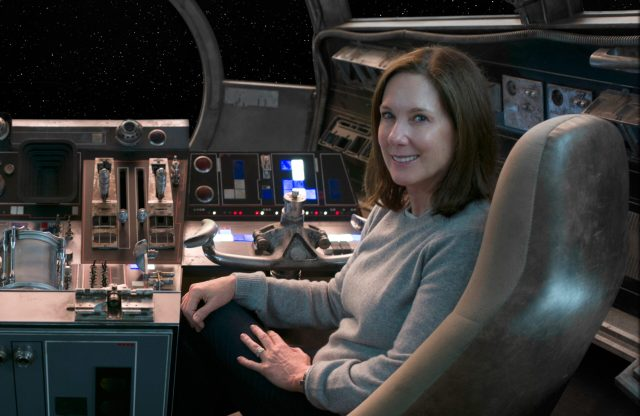 Kathleen Kennedy in the Millennium Falcon