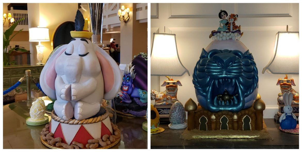 First Look at the Easter Egg displays at the Yacht & Beach Club