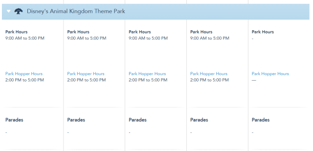 Disney World Park Hours extended through May 22nd 6