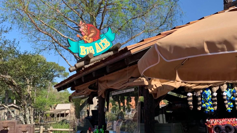 Big Al's Merchandise Kiosk in Magic Kingdom Receives a New Sign