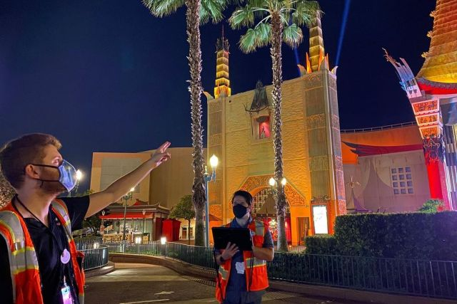 Behind the scenes look at the lighting for the Chinese Theatre in Hollywood Studios 2