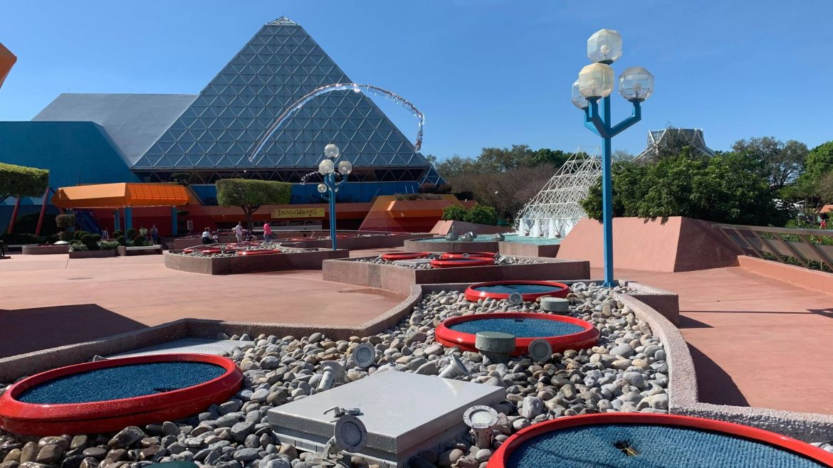 Epcot's Imagination Pavilion Jumping Fountains Are Working Again