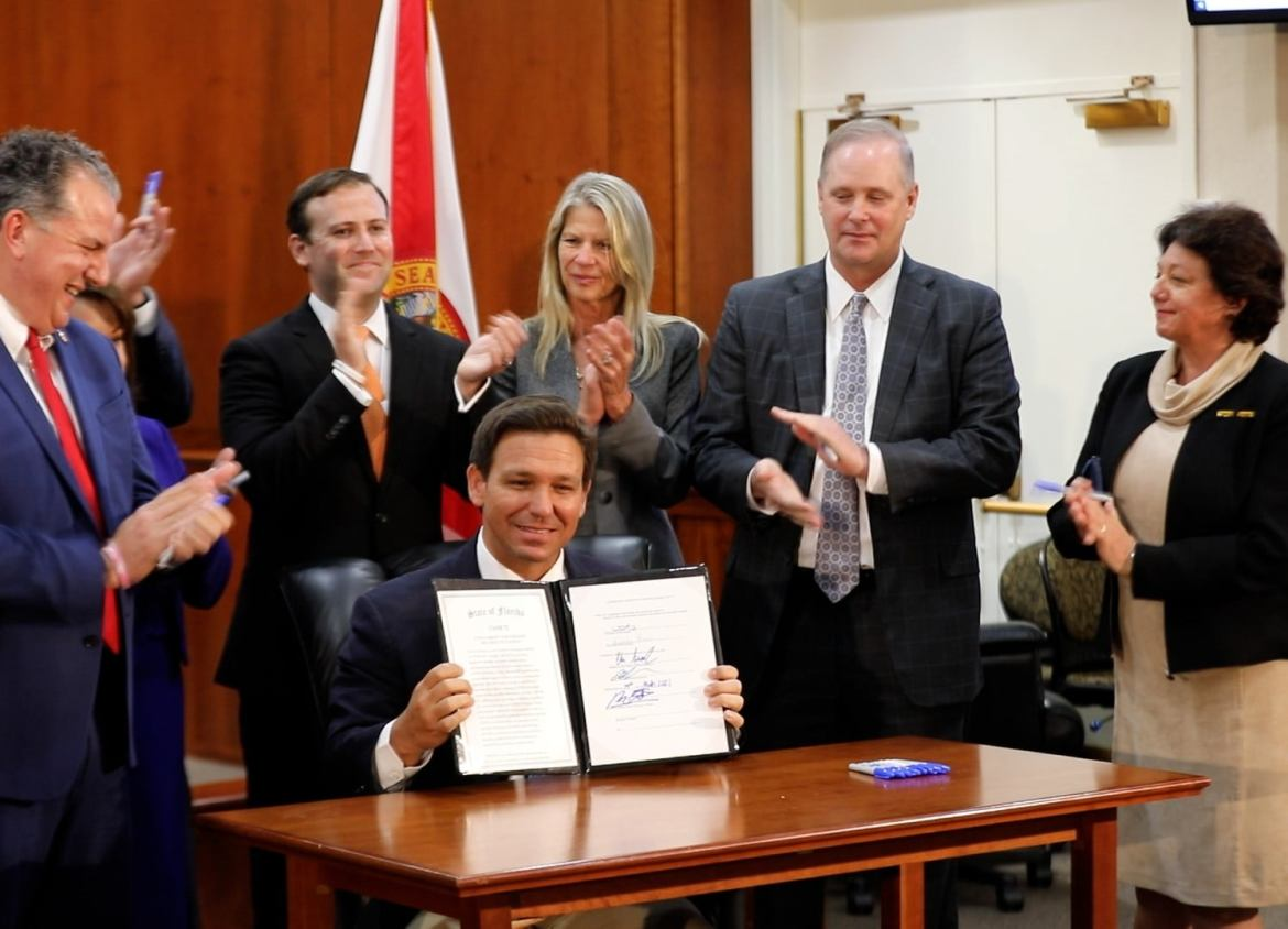 Florida Governor DeSantis Signs an Executive Order Banning Vaccine Passports