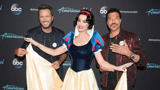 American Idol hosts Luke Bryan, Katy Perry, and Lionel Richie