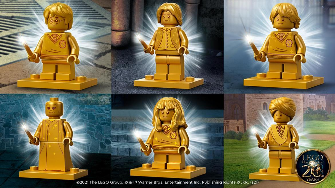 Celebrate 20 years of Harry Potter with these new LEGO Golden Minifigures!