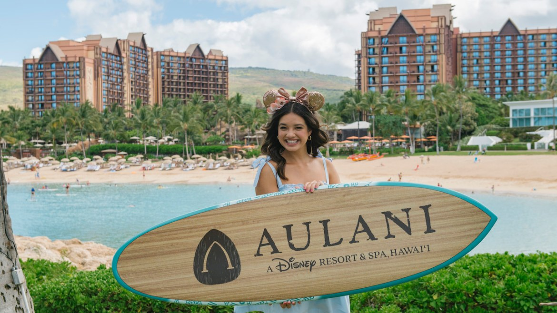 Peyton Elizabeth Lee From Disney+ Original Series, 'Doogie Kamealoha M.D.,' Visits Aulani Resort