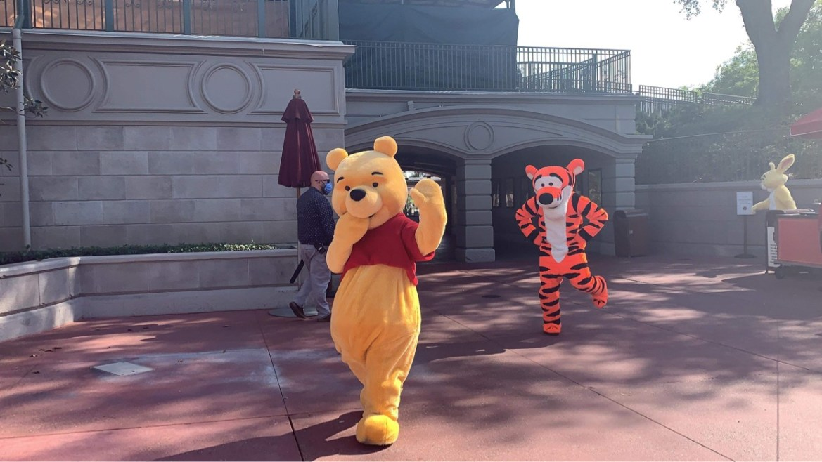 Winnie the Pooh & Friends spotted in the Magic Kingdom