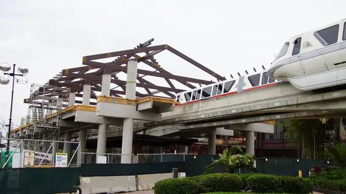 Disney's Polynesian Resort Monorail Station is taking shape