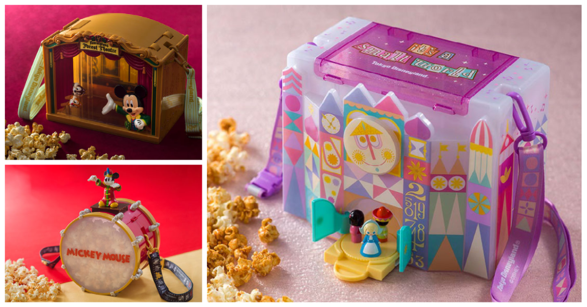 New Disney Popcorn Buckets Celebrate Tokyo Disneyland's Latest Expansion