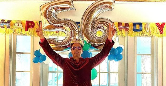 Robert Downey Jr. celebrating his 56th birthday