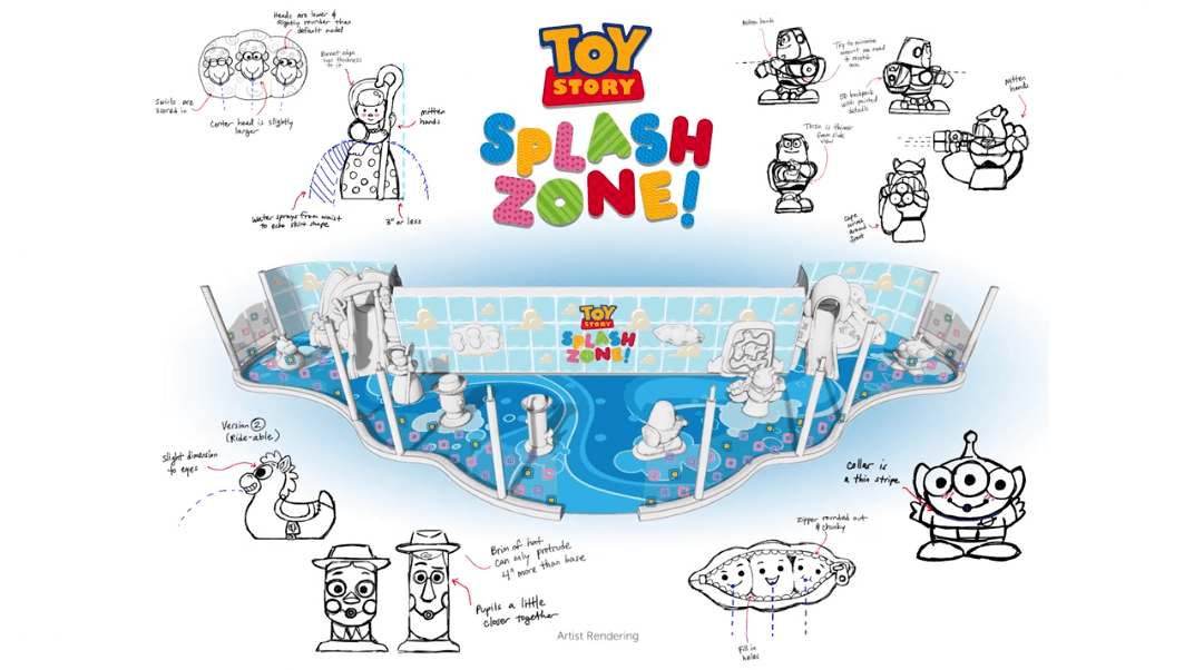 Toy Story Splash Zone coming to the Disney Wish