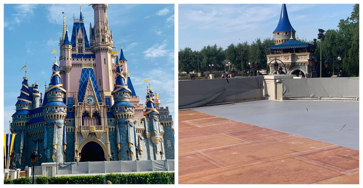 Work Continues on Cinderella Castle Stage