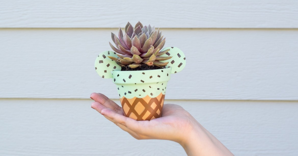 EAR-resistibly Cute Mickey Ice Cream Planter DIY!