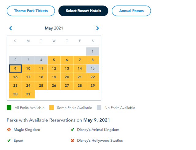 Magic Kingdom and Hollywood Studios already booked for Mother's Day 4