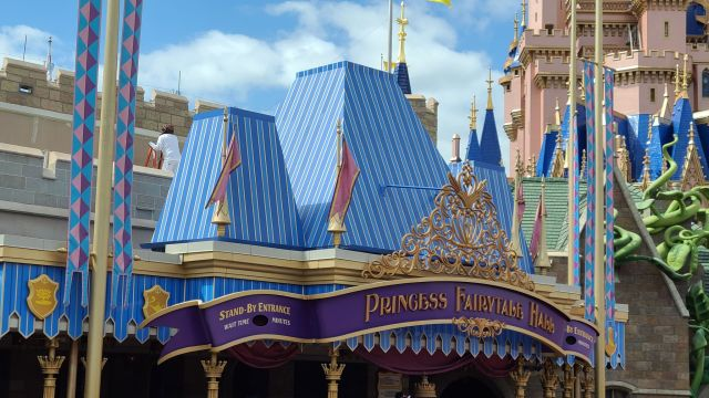 Painting continues above Princess Fairytail Hall.