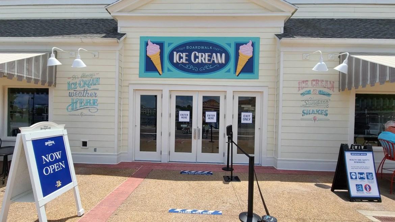 Boardwalk Ice Cream Shop now open