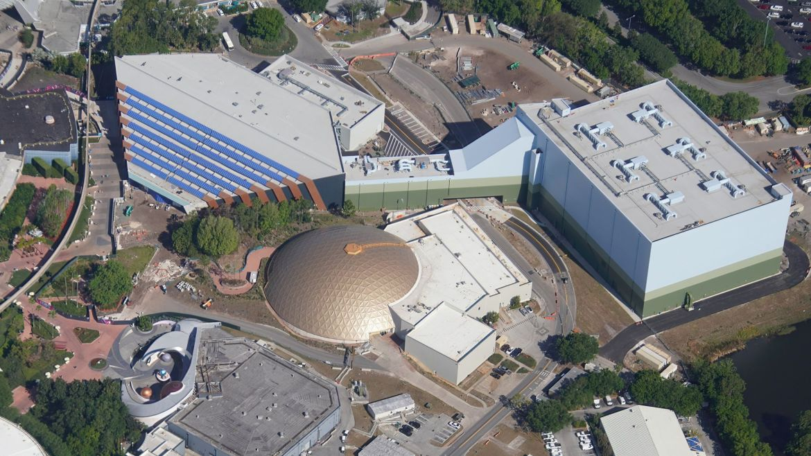 Aerial look at Guardians of the Galaxy Cosmic Rewind