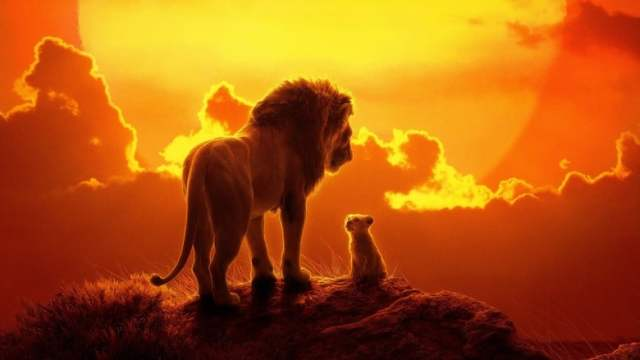 Mufasa and Simba in The Lion King (2019)