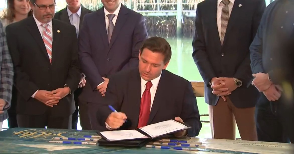 Governor DeSantis signs order ending all Covid restrictions in Florida