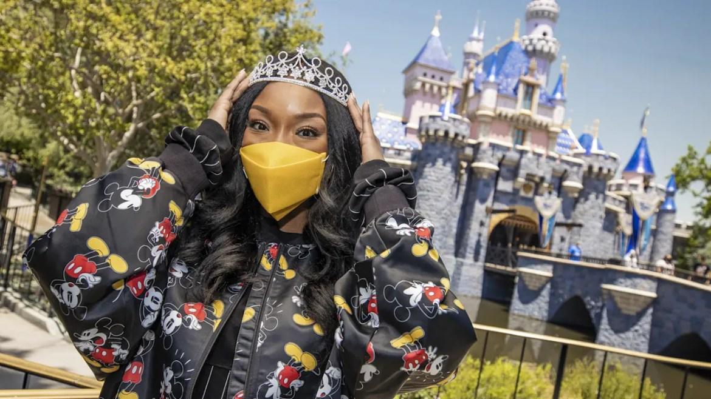 Brandy Visits Disneyland Park in Celebration of Disney's 'Ultimate Princess Celebration' Anthem Debut