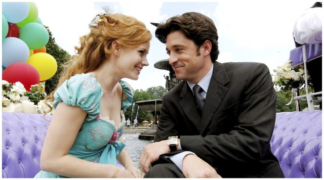 Amy Adams and Patrick Dempsey as Giselle and Robert in Disney's Enchanted