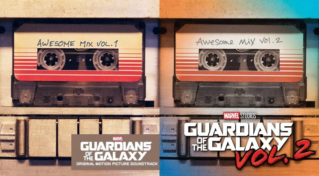 Awesome Mix Vol 1 and 2 covers