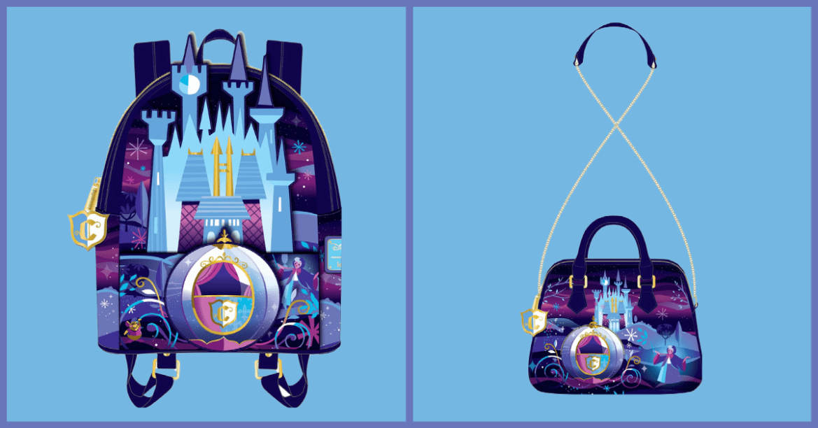 Stunning new Cinderella Castle Loungefly Collection