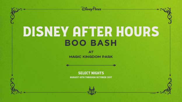 Disney After Hours BOO BASH coming to the Magic Kingdom this August 2