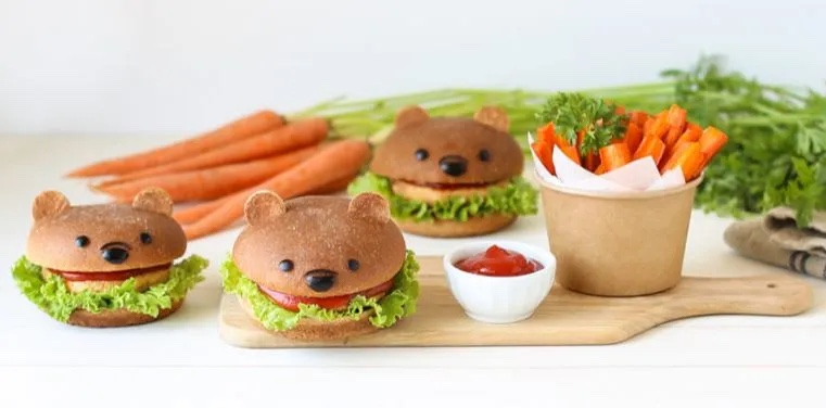 Adorable Winnie The Pooh Veggie Burgers To Make At Home!