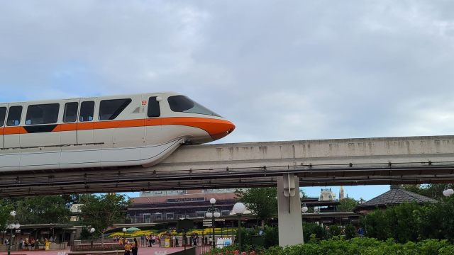 Plexiglass dividers removed from Disney World Monorails 1