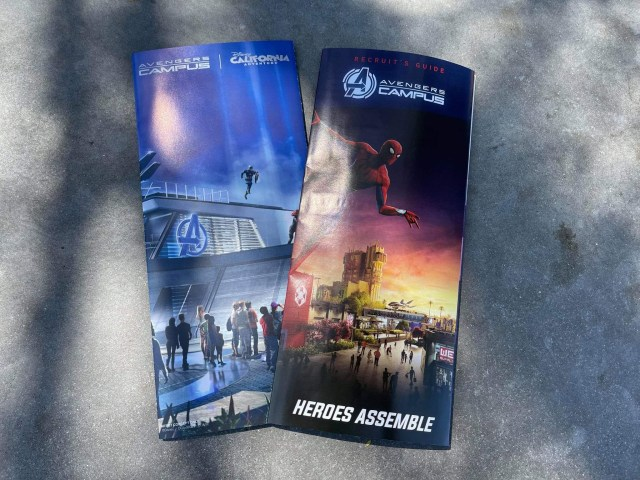 Avengers Campus featured on new Collectable California Adventure Park Map 2