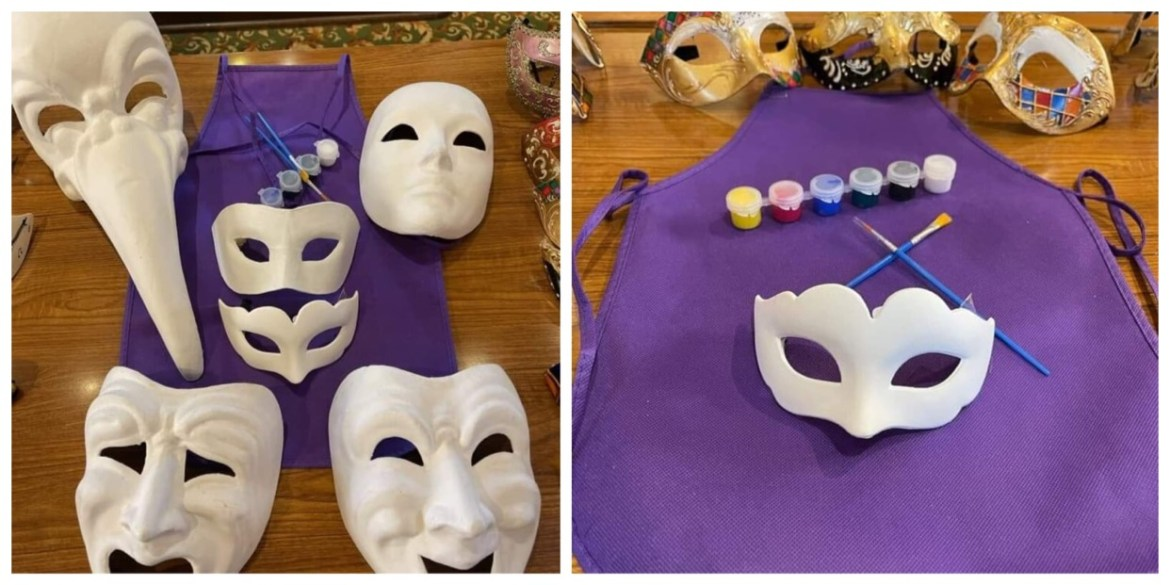 Paint your own Mask now at Epcot's Italy Pavilion