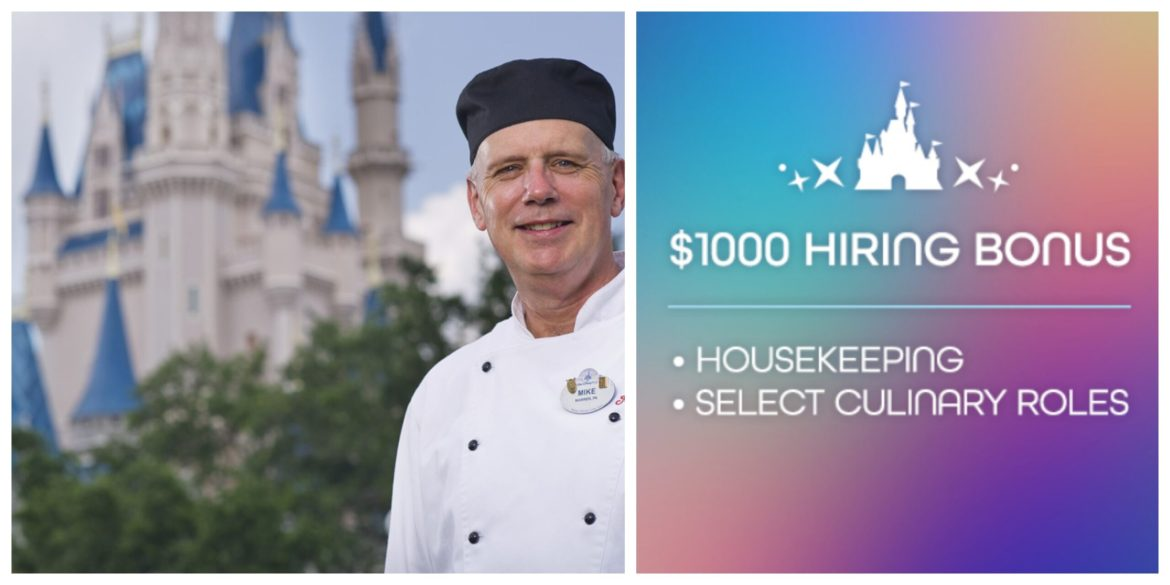 Disney World is hiring and Offering $1,000 Sign-on Bonuses