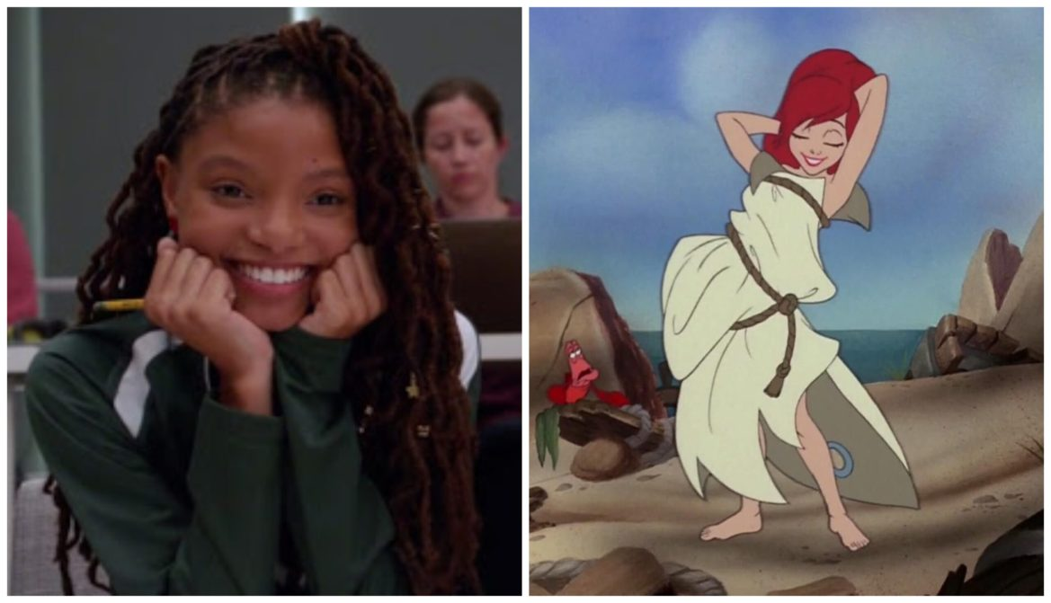 New Set Photos Feature Halle Bailey as Ariel in Iconic Burlap Dress