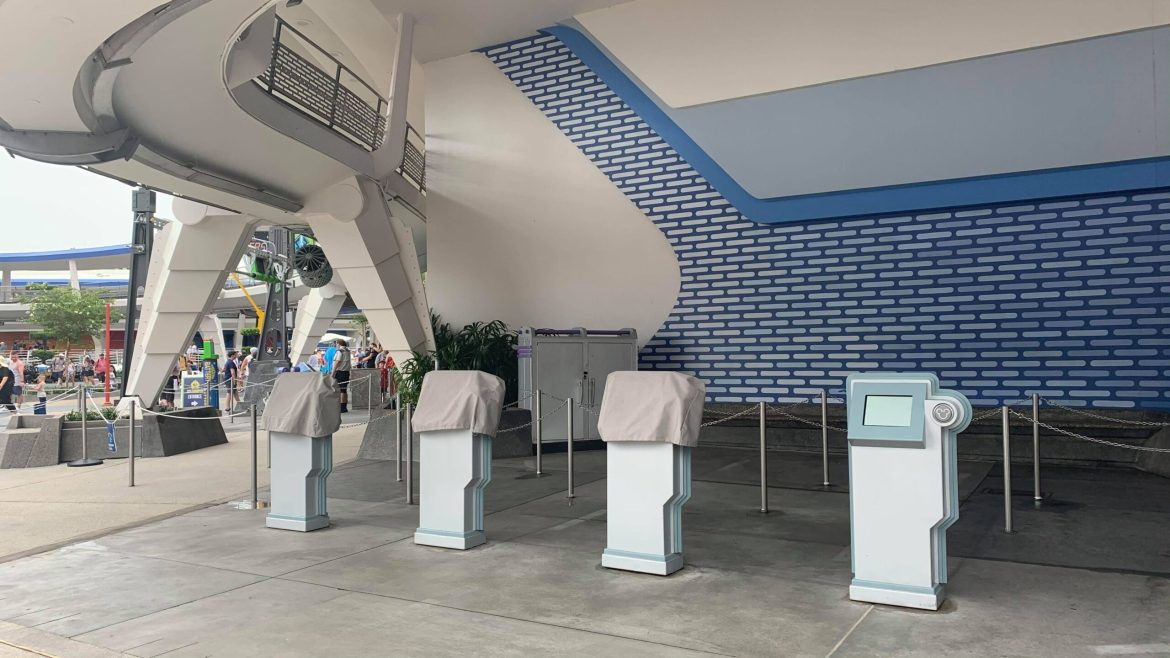 Fast Pass kiosks are out in the Magic Kingdom